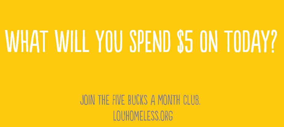 Five Bucks A Month