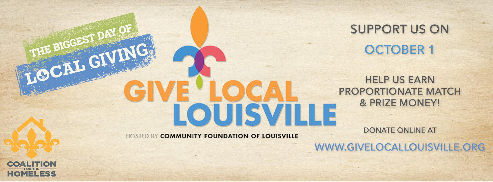 Give Local Louisville with logo
