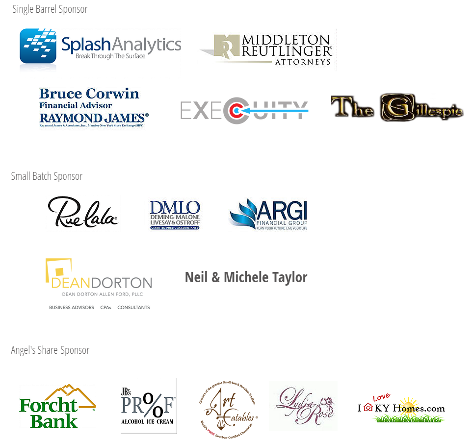 Bourbon Mixer 2016 sponsors